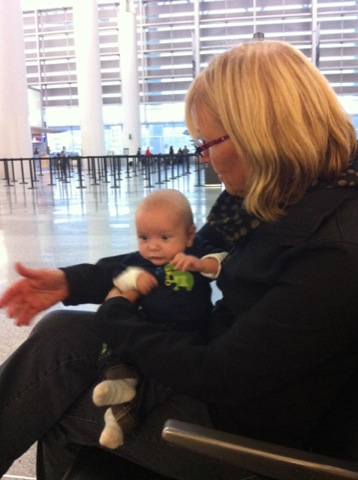 At the airport with Nana Kiwi