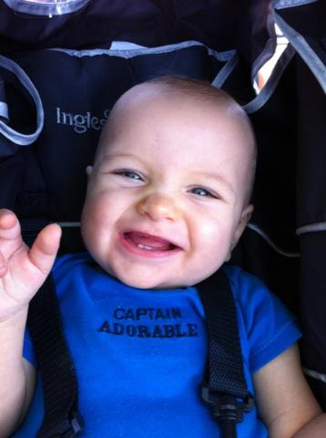 Goofy grin!